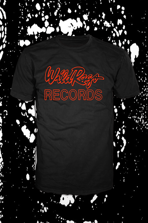 Wild Rags Records logo  T black with red
