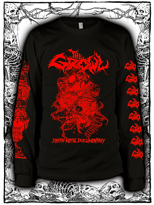 THE GROWL (BLACK  LONG SLEEVE WITH RED INK) OLD design