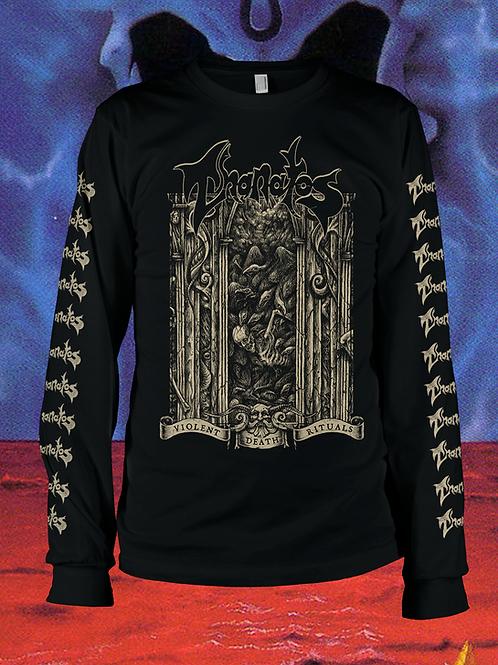 Thanatos Violent Death Rituals Long Sleeve (Gold)