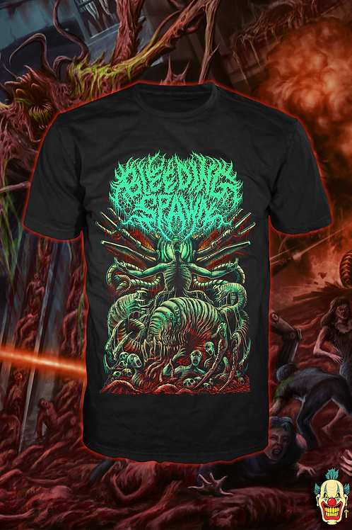 BLEEDING SPAWN Abomination Green T