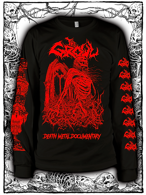THE GROWL (BLACK  LONG SLEEVE WITH RED INK) NEW design