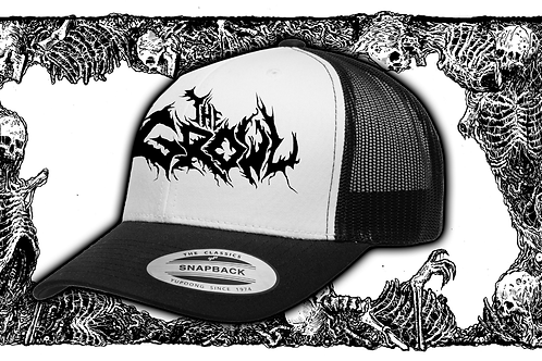 Trucker hat with embroidered logo