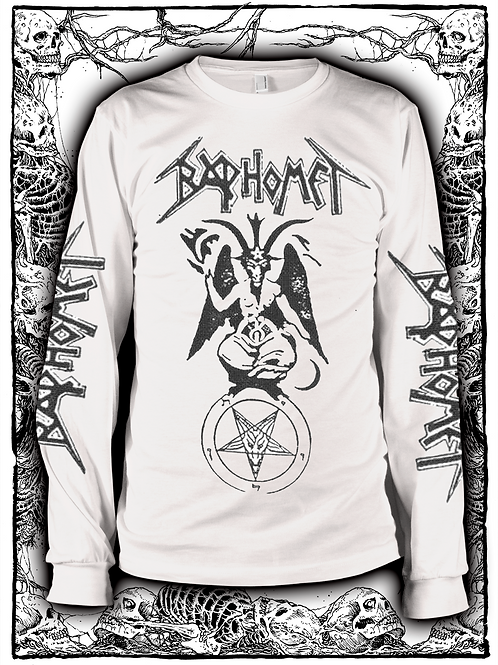 BAPHOMET-Morbid Realities Long Sleeve (WHITE)