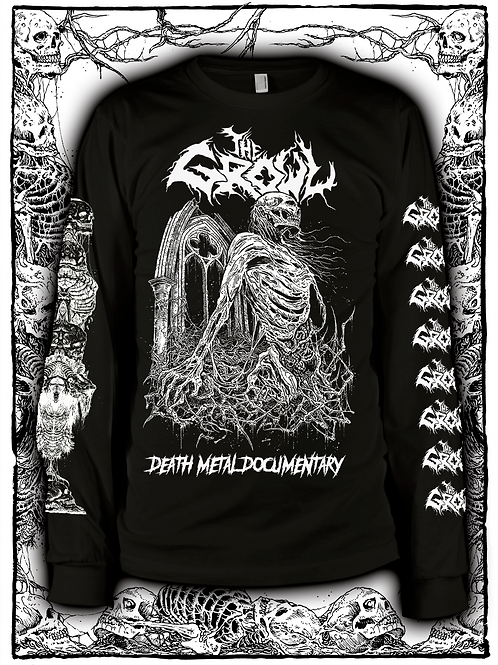 THE GROWL (BLACK  LONG SLEEVE WITH WHITE INK) NEW design