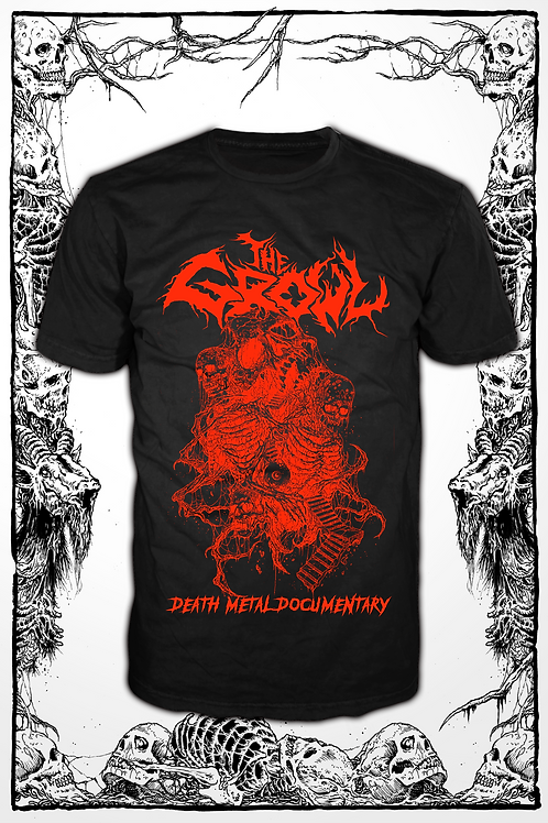 THE GROWL (BLACK SHIRT red ink)