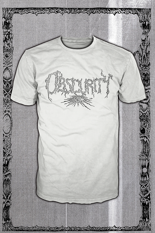 OBSCURITY Logo white T