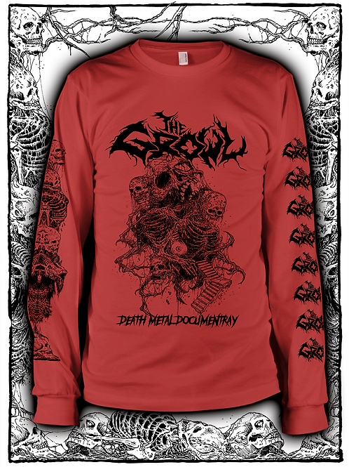 THE GROWL (RED  LONG SLEEVE WITH BLACK INK) OLD design