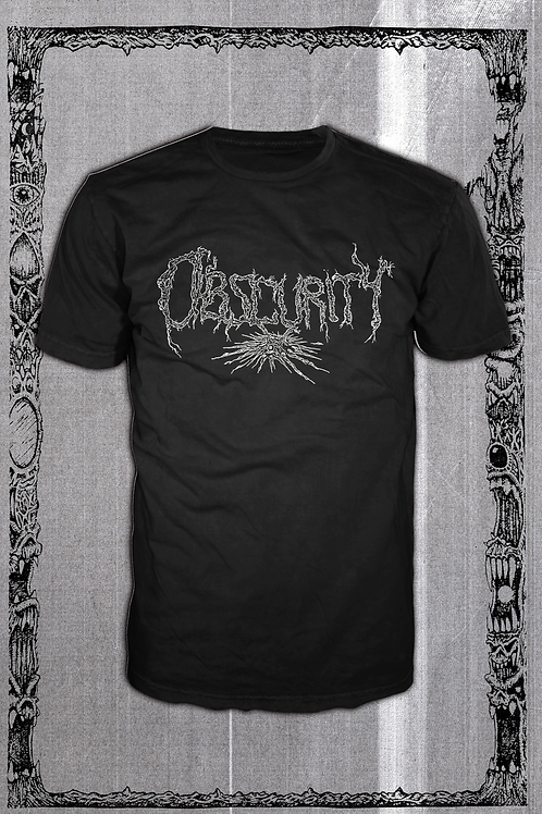 OBSCURITY Logo black T