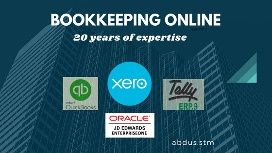 Bookkeeping in Quickbooks online & Xero