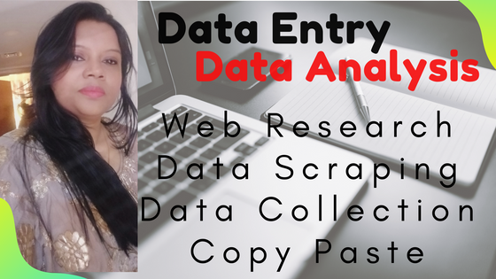 I will do data entry, data analysis, web research