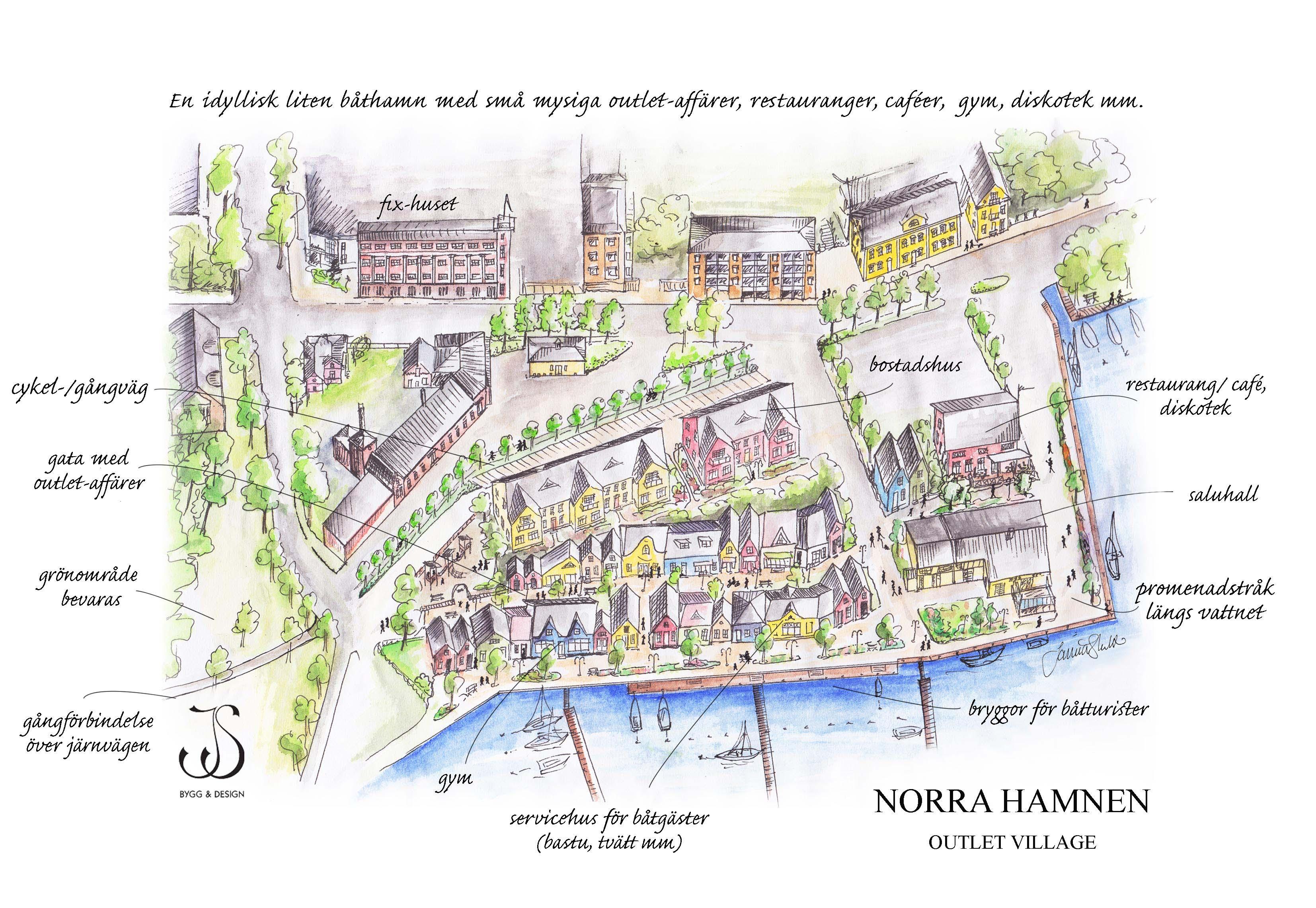 Outlet village_Norra hamnen 2013