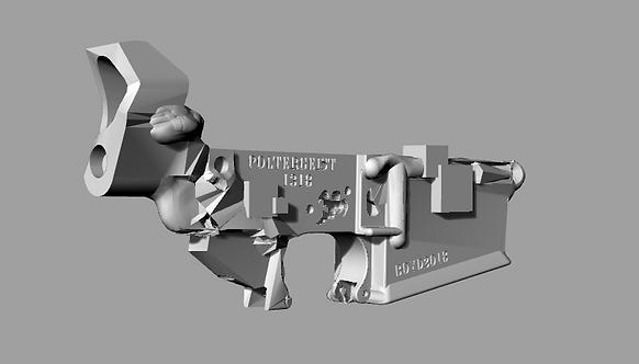 Poltergeist1318 Disabled Assault Rifle Lower Reciever Sculpture File