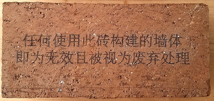 Laser Etched Brick from The Cognitive Dissonance of Materials Project (Thick)