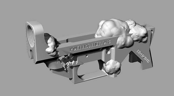 Poltergeist1018 Disabled Assault Rifle Lower Reciever Sculpture File
