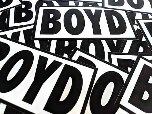 BOYD 7 x 3.6 in Vinyl Sticker