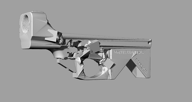 Poltergeist1518 Disabled Assault Rifle Lower Reciever Sculpture File