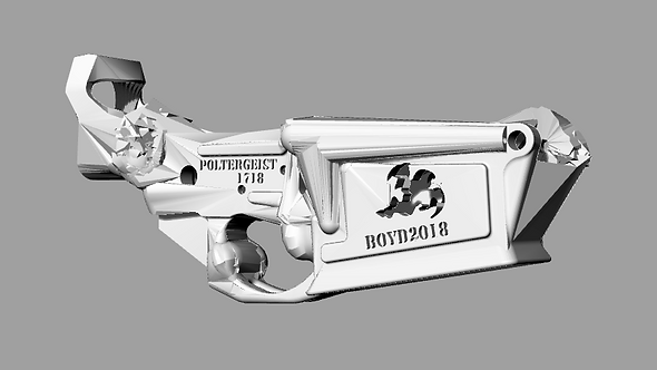 Poltergeist1718 Disabled Assault Rifle Lower Reciever Sculpture File