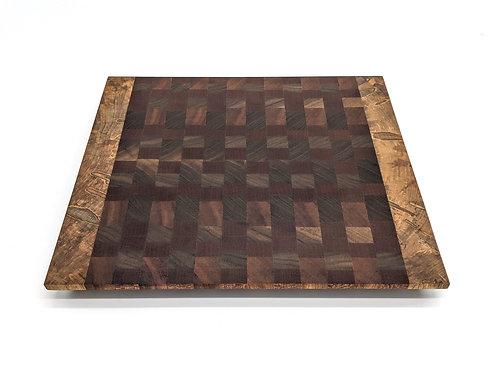 Sapele, Walnut and Ambrosia Maple Wood Cutting Board