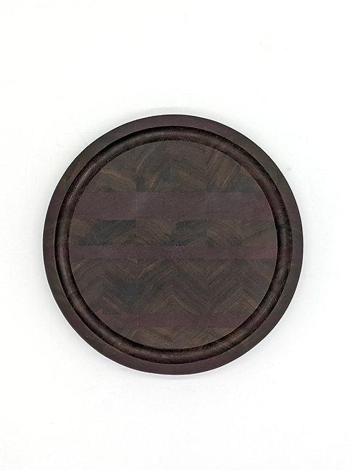8.5 in. Walnut and Purpleheart Cutting Board