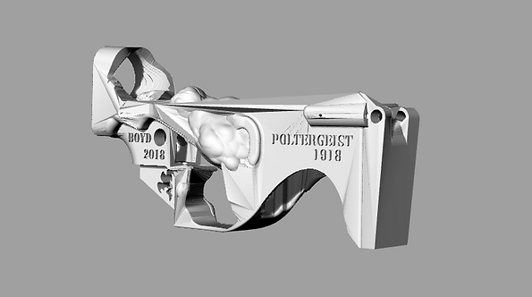 Poltergeist1918 Disabled Assault Rifle Lower Reciever Sculpture File