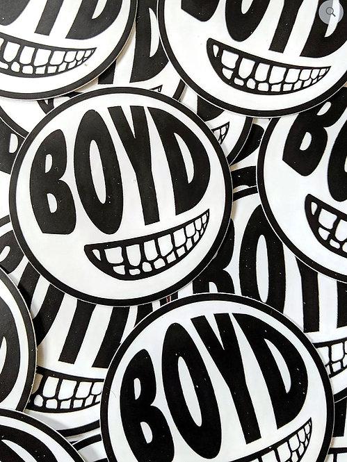 3 x 3 inch BOYD Round Sticker