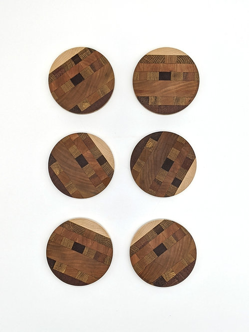 End Grain Wood Coasters (Set of 6)