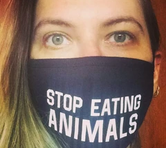 Masks with vegan messages!