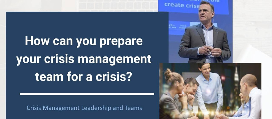 How to prepare your crisis management team