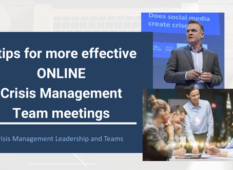 Tips for ONLINE Crisis Management Team Meetings