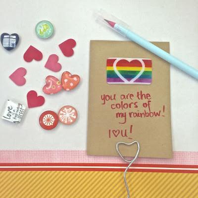 WahSoSimple Handmade card with shrink art