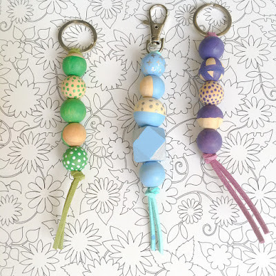 WahSoSimple Wooden Beads Keychain