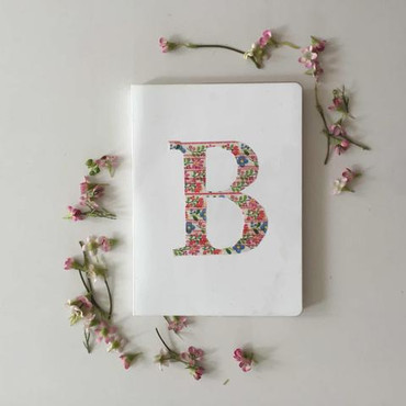DIY Craft: Washi Tape Monogram Notebook