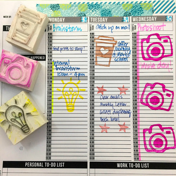 DIY Craft: Handmade Rubber Stamps, Planner Stamps