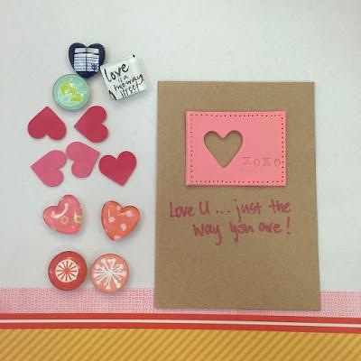 WahSoSimple Handmade card with clay