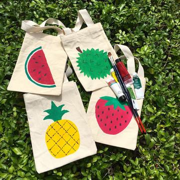 DIY Crafts: Use Cloth, Not Plastic ... Tutti Fruitti Fabric Bags