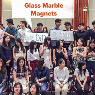 WahSoSimple Customised Glass Marble Magnets