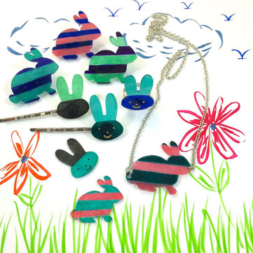 DIY Craft: Shrink Plastic Bunny Accessories for Easter and Everyday