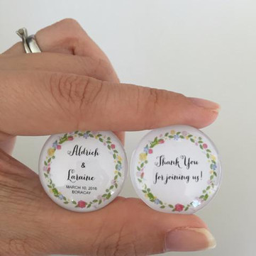 Event: Personalised Wedding Favours With Glass Marble Magnets