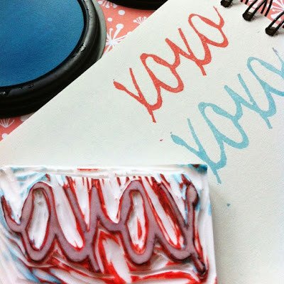 WahSoSimple Rubber Stamp XOXO