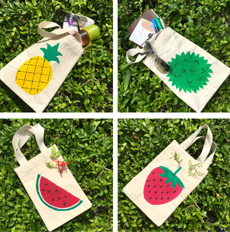 wahsosimple paint on cotton bags