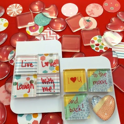 WahSoSimple Valentine's Day Glass Marble Magnets