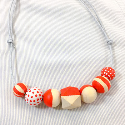 diy craft wooden beads necklace