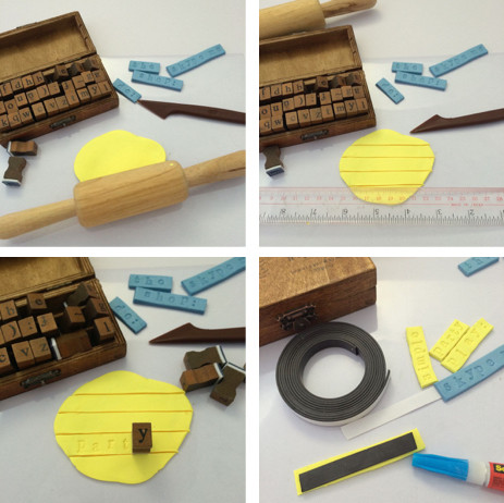 WahSoSimple DIY Craft Kit Word Clay Magnets