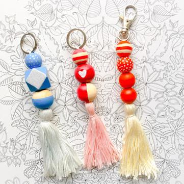 DIY Craft: Wooden Beads Keychains