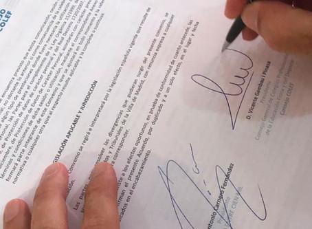 El Consejo COLEF firma un convenio de colaboración con UnoEntreCienMil para impulsar la iniciativa &
