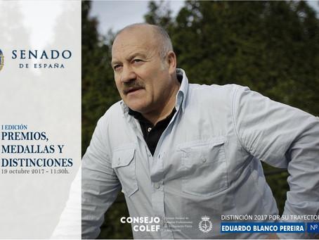 D. Eduardo Blanco, Colegiado COLEF nº 3310 y Presidente de FAGDE, recibirá la distinción de Unión Pr