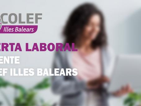 Oferta laboral: se busca gerente para COLEF Illes Balears