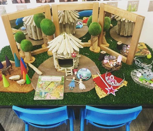 Preschool children loving their new fair