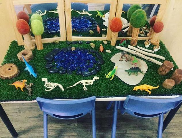 Senior Kindy's dinosaur small world play