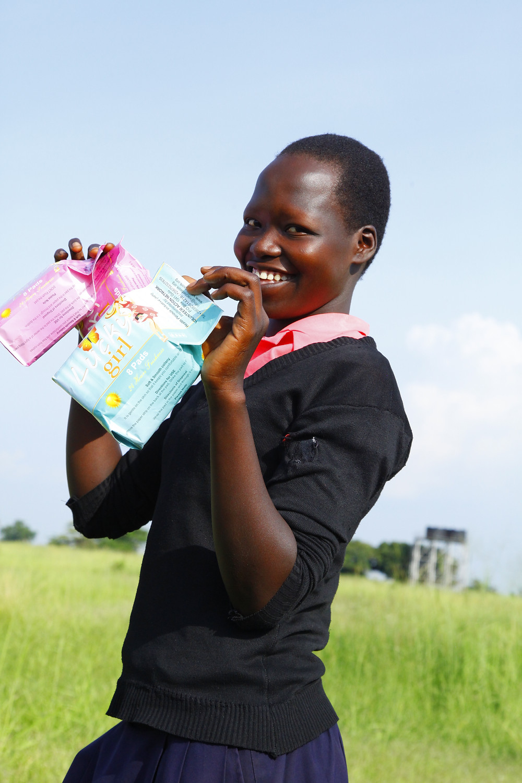 Primary School Girl using Luck Girl sanitary pads